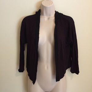 Lux Women's Cropped Hoodie Top 3/4 Sleeve S